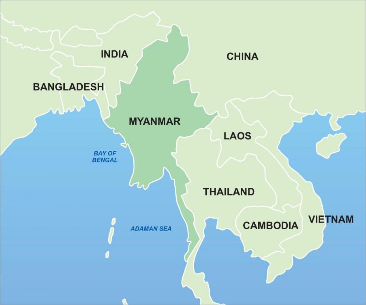 Karta Indien Thailand.Karta Asien